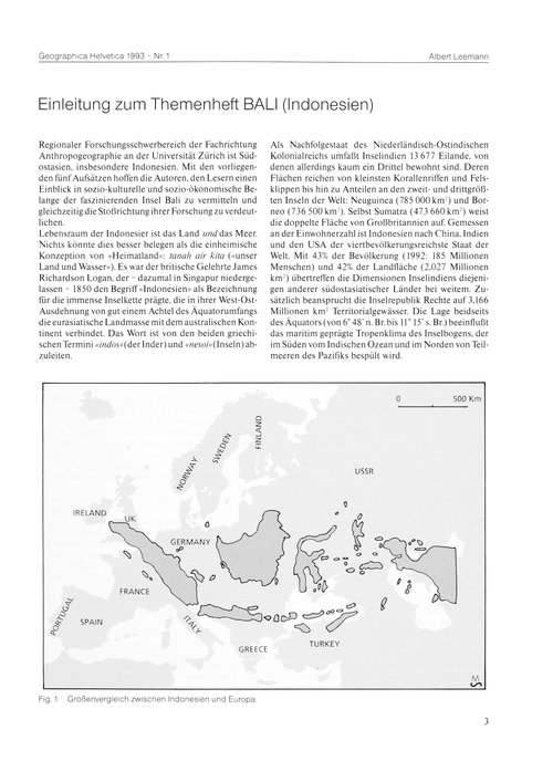 Einleitung Zum Themenheft Bali (Indonesi... by Leemann, A.
