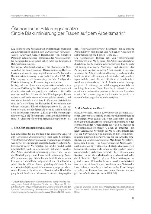 Ökonomische Erklärungsansätze Für Die Di... by Brunner, J.