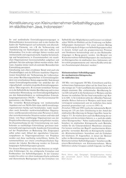 Konstituierung Von Kleinunternehmer-selb... by Véron, R.