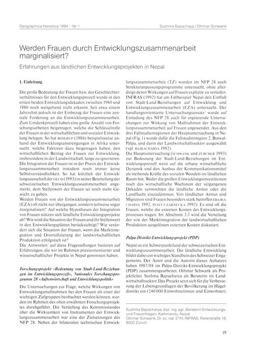 Werden Frauen Durch Entwicklungszusammen... by Bajarchaya, S.