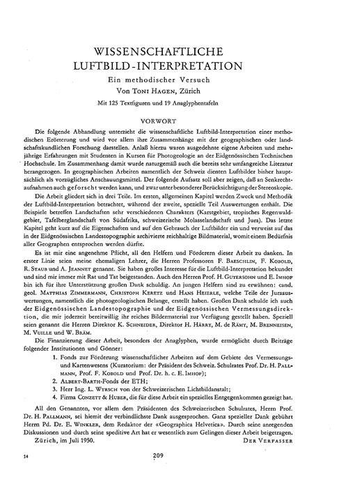Wissenschaftliche Luftbild-interpretatio... by Hagen, T.