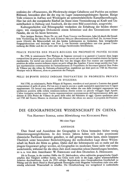 Die Geographische Wissenschaft in China ... by Scholz, H.