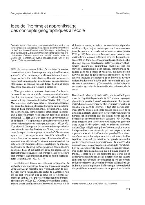 Idée De L'Homme Et Apprentissage Des Con... by Varcher, P.