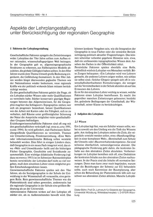 Aspekte Der Lehrplangestaltung Unter Ber... by Böhn, D.