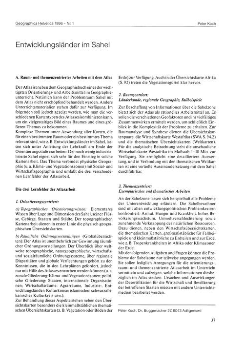 Entwicklungsländer Im Sahel : Volume 51,... by Koch, P.