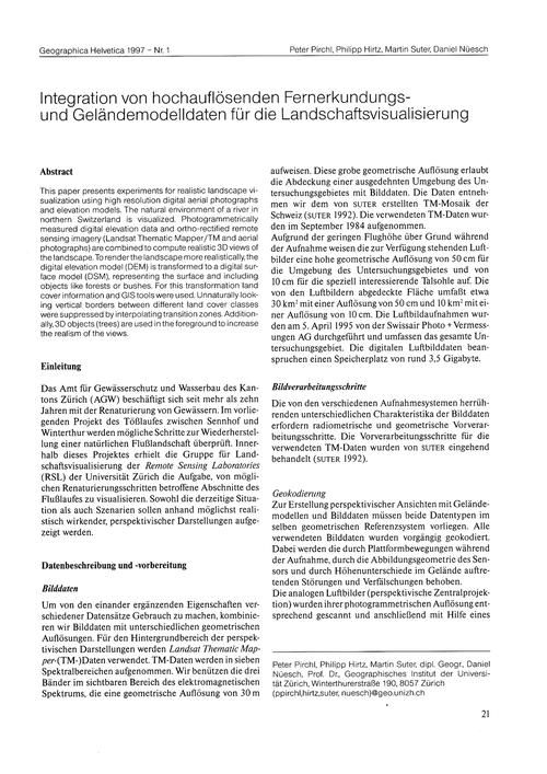 Integration Von Hochauflösenden Fernerku... by Pirchl, P.