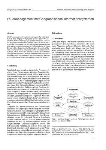 Feuermanagement Mit Geographischen Infor... by Bachmann, A.