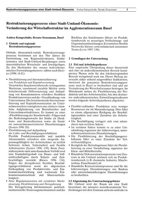 Restrukturierungsprozesse Einer Stadt-um... by Kampschulte, A.
