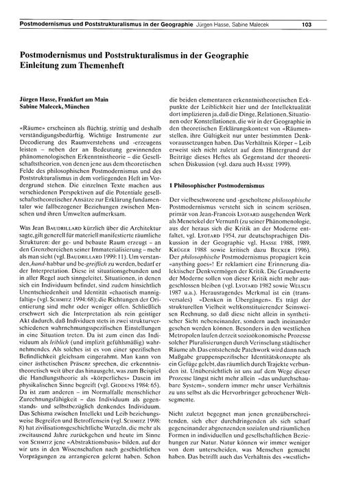 Postmodernismus Und Poststruktualismus i... by Hasse, J.