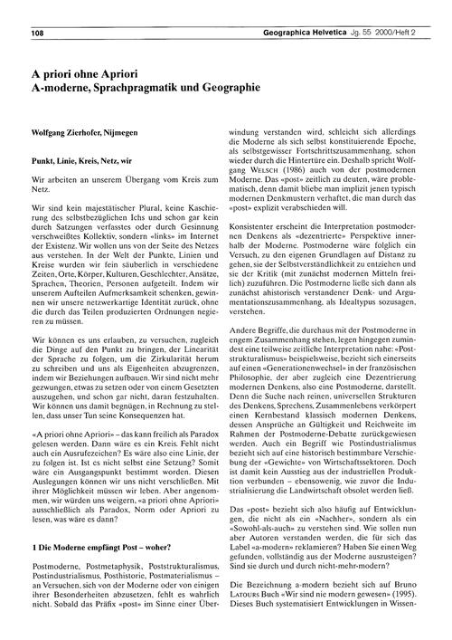 A Priori Ohne Apriori : A-moderne, Sprac... by Zierhofer, W.