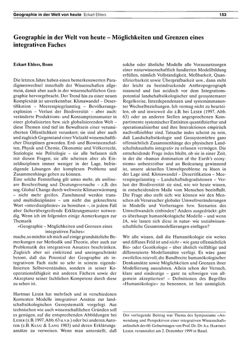 Geographie in Der Welt Von Heute : Mögli... by Ehlers, E.