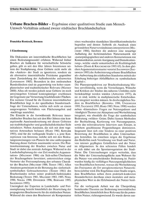Urbane Brachen-bilder : Ergebnisse Einer... by Rentzsch, F.