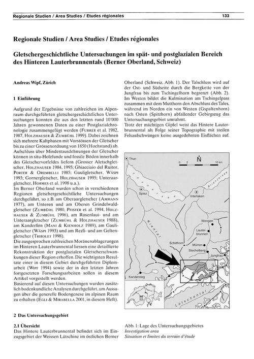 Gletschergeschichtliche Untersuchungen I... by Wipf, A.