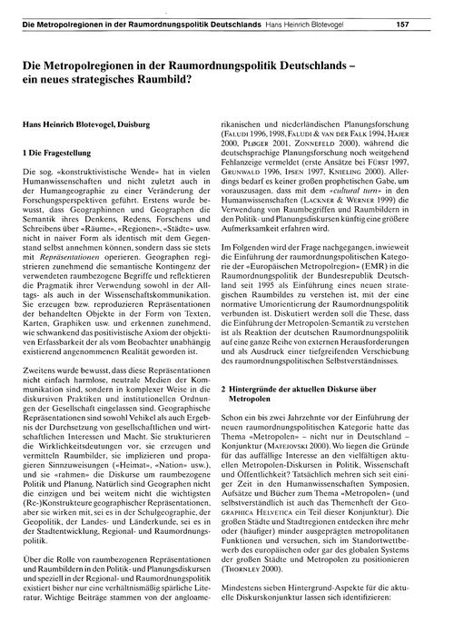 Die Metropolregionen in Der Raumordnungs... by Blotevogel, H.