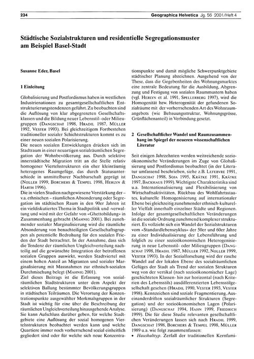 Städtische Sozialstrukturen Und Resident... by Eder, S.