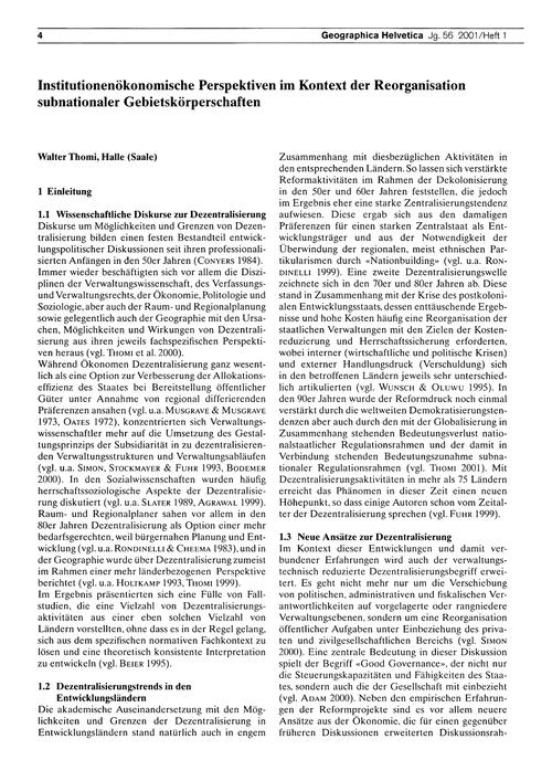 Institutionenökonomische Perspektiven Im... by Thomi, W.