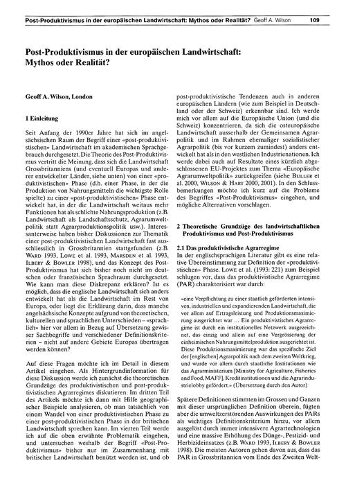 Post-produktivismus in Der Europäischen ... by Wilson, G. A.