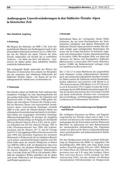 Anthropogene Umweltveränderungen in Den ... by Stumböck, M.