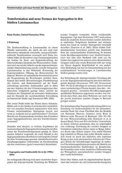 Transformation Und Neue Formen Der Segre... by Fischer, K.