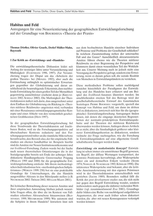 Habitus Und Feld : Anregungen Für Eine N... by Dörfler, T.