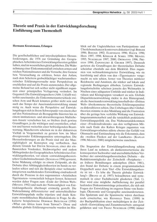 Theorie Und Praxis in Der Entwicklungsfo... by Kreutzmann, H.