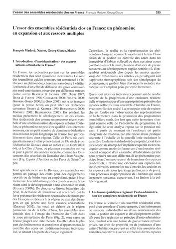 L'Essor Des Ensembles Résidentiels Clos ... by Madoré, F.