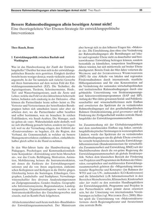 Bessere Rahmenbedingungen Allein Beseiti... by Rauch, T.