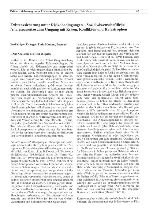Existenzsicherung Unter Risikobedingunge... by Krüger, F.