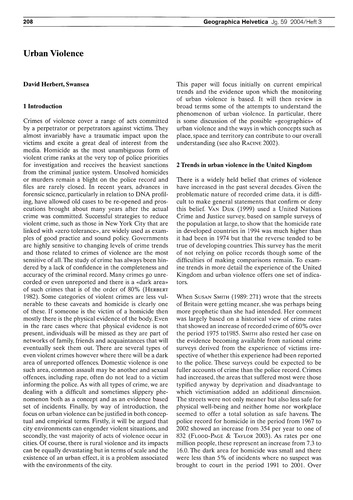 Urban Violence : Volume 59, Issue 3 (30/... by Herbert, D.