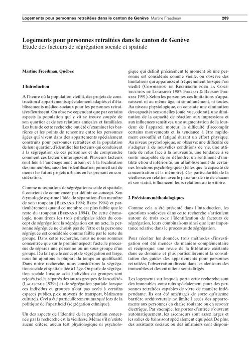Logements Pour Personnes Retraitées Dans... by Freedman, M.