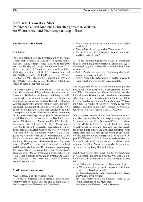Städtische Umwelt Im Alter : Präferenzen... by Schneider-sliwa, R.