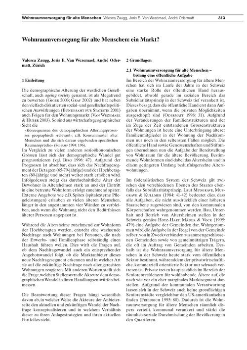 Wohnraumversorgung Für Alte Menschen : E... by Zaugg, V.