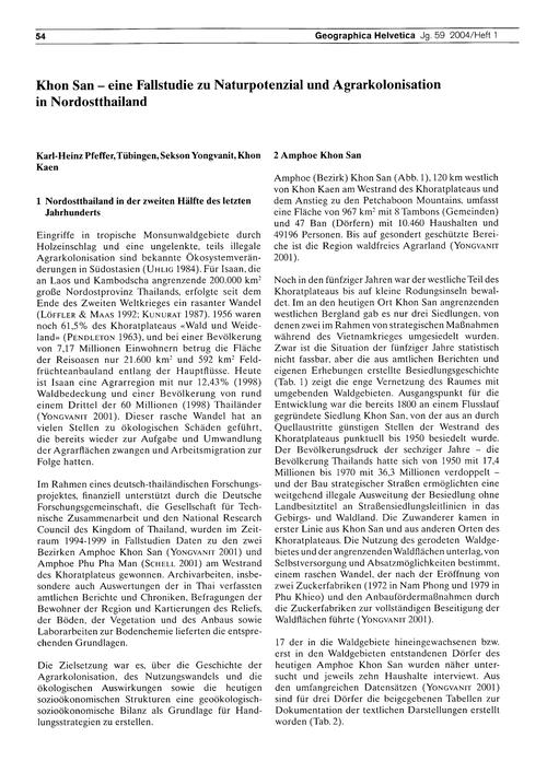 Khon San : Eine Fallstudie Zu Naturpoten... by Pfeffer, K.