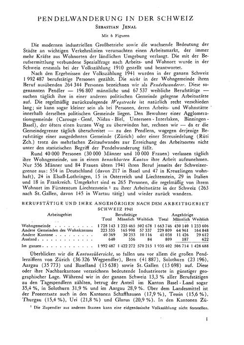 Pendelwanderung in Der Schweiz : Volume ... by Jenal, S.
