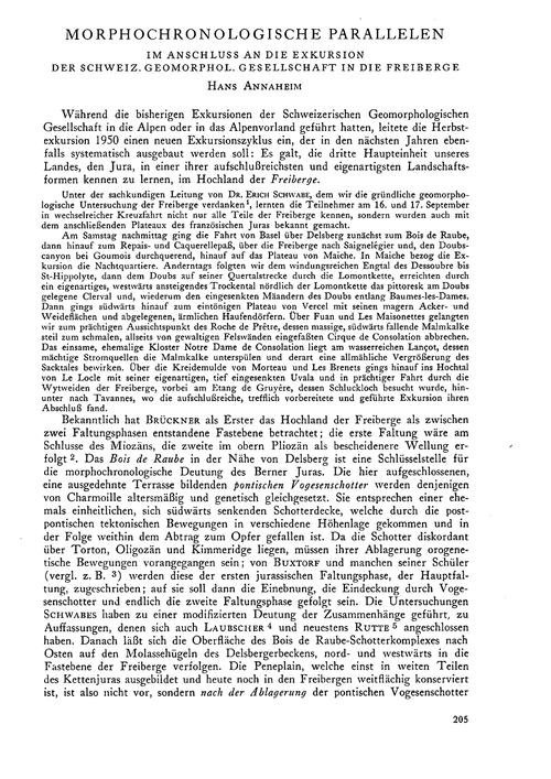 Morphochronologische Parallelen: Im Ansc... by Annaheim, H.