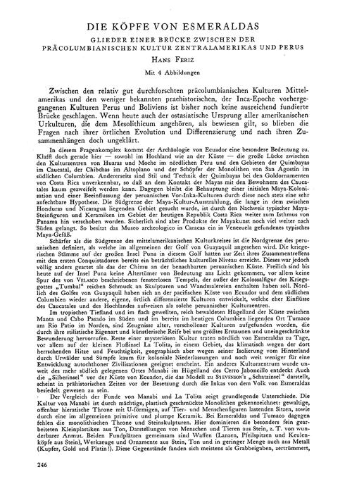 Die Köpfe Von Esmeraldas : Glieder Einer... by Feriz, H.