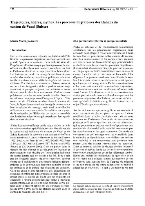 Trajectoires, Filières, Mythes : Les Par... by Marengo, M.