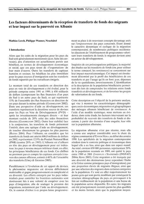 Les Facteurs Déterminants De La Réceptio... by Lerch, M.