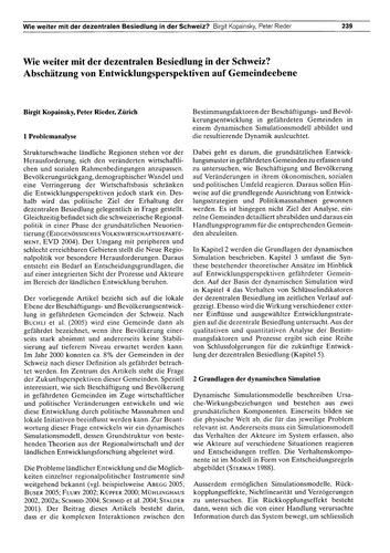 Wie Weiter Mit Der Dezentralen Besiedlun... by Kopainsky, B.