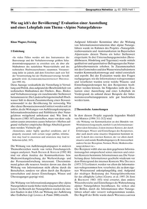 Wie Sag Ich's Der Bevölkerung? : Evaluat... by Wagner, K.