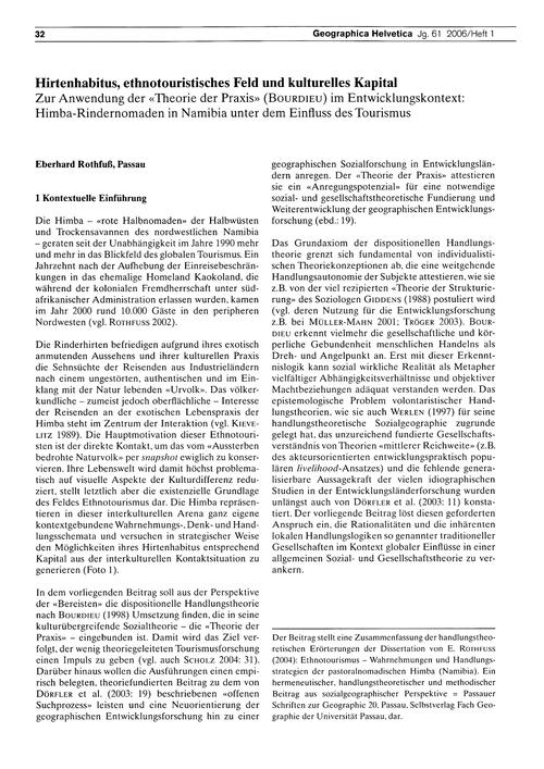Hirtenhabitus, Ethnotouristisches Feld U... by Rothfuss, E.