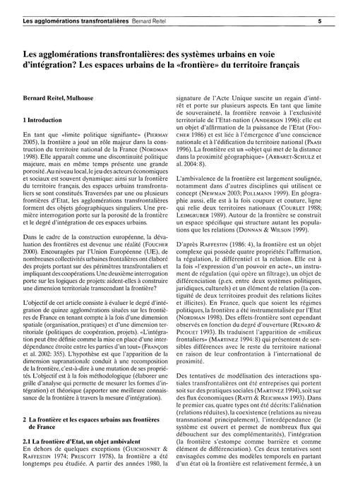 Les Agglomérations Transfrontalières : D... by Reitel, B.