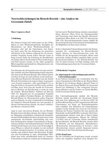 Netzwerkbeziehungen Im Biotech-bereich :... by Caprarese, M.