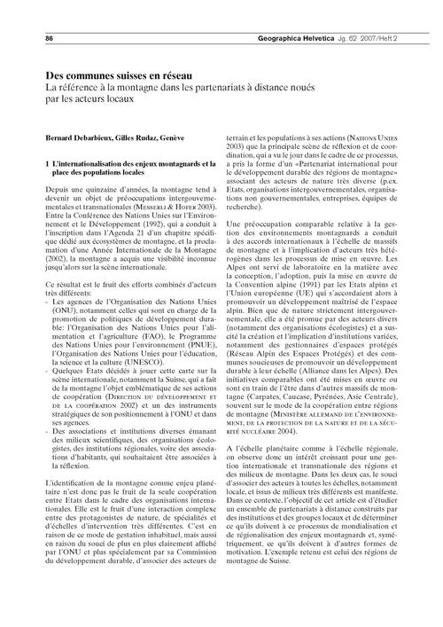 Des Communes Suisses En Réseau : La Réfé... by Debarbieux, B.