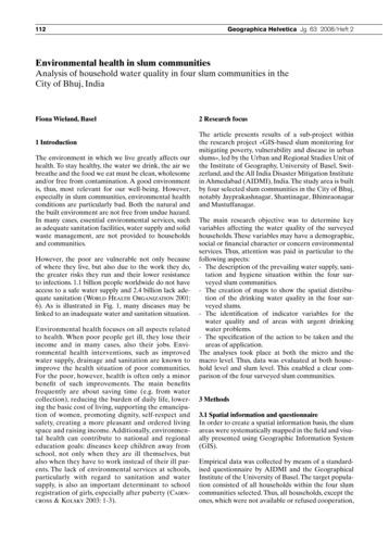 Environmental Health in Slum Communities... by Wieland, F.