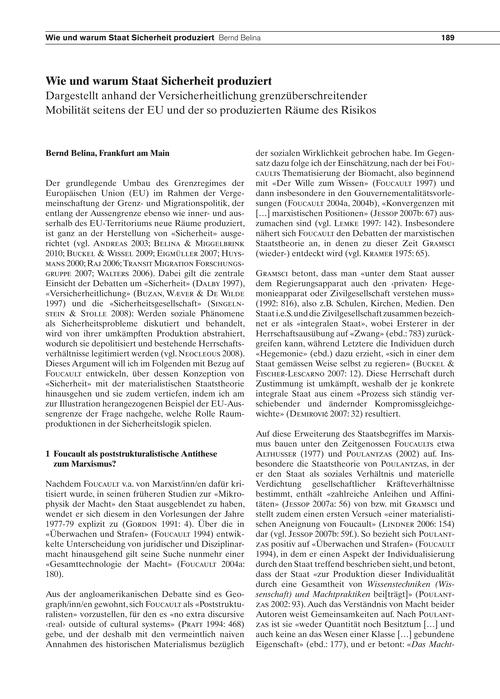 Wie Und Warum Staat Sicherheit Produzier... by Belina, B.