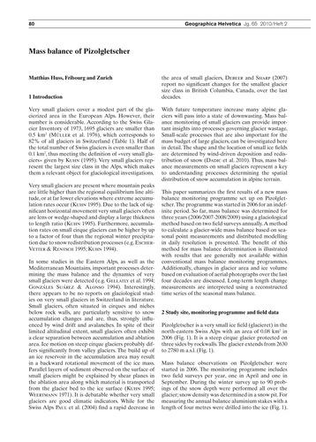 Mass Balance of Pizolgletscher : Volume ... by Huss, M.