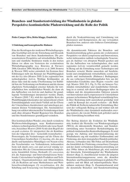 Branchen- Und Standortentwicklung Der Wi... by Campos Silva, P.