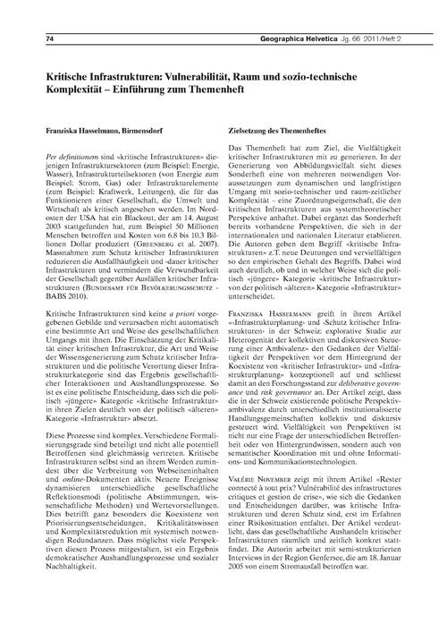Kritische Infrastrukturen: Vulnerabilitä... by Hasselmann, F.