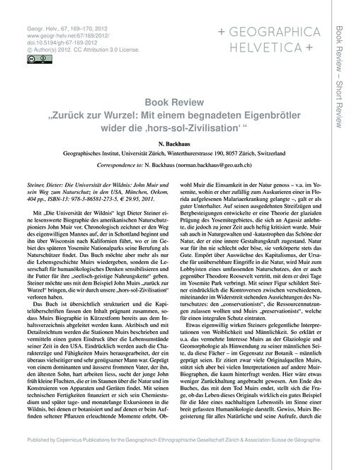 """Book Review """"Zurück Zur Wurzel: Mit Eine... by Backhaus, N."""